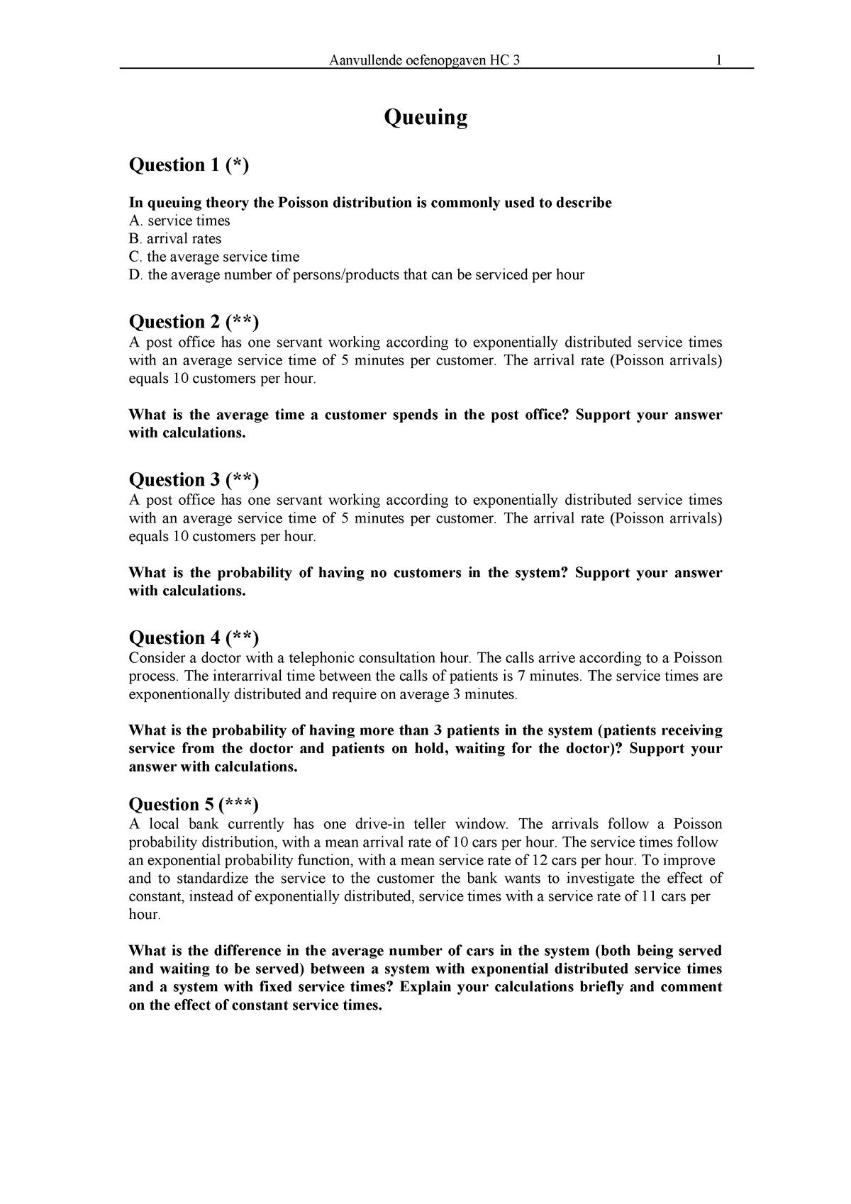 Oefenopgaven HC3 - EBP029A05: Supply Chain Operations - StuDocu