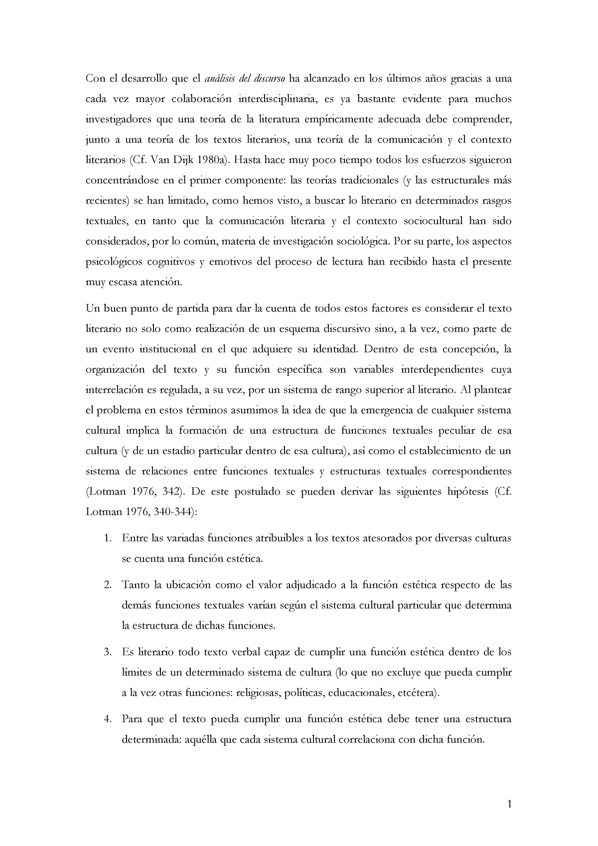 Extractos De S Reisz Teoría Literaria Una Propuesta Studocu