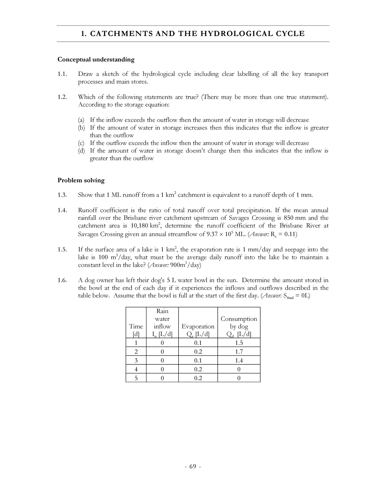 Tutorial work - homework 1-10 with solutions, examples 1-10