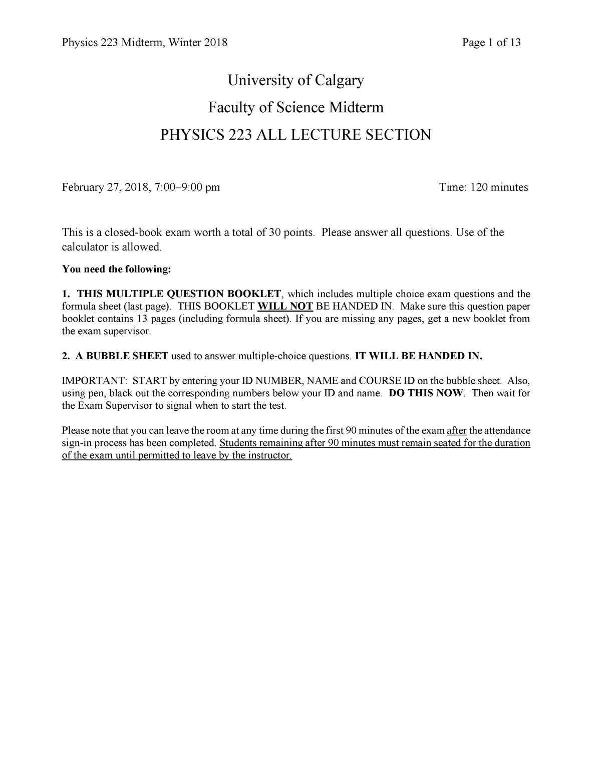 Book for physics formula