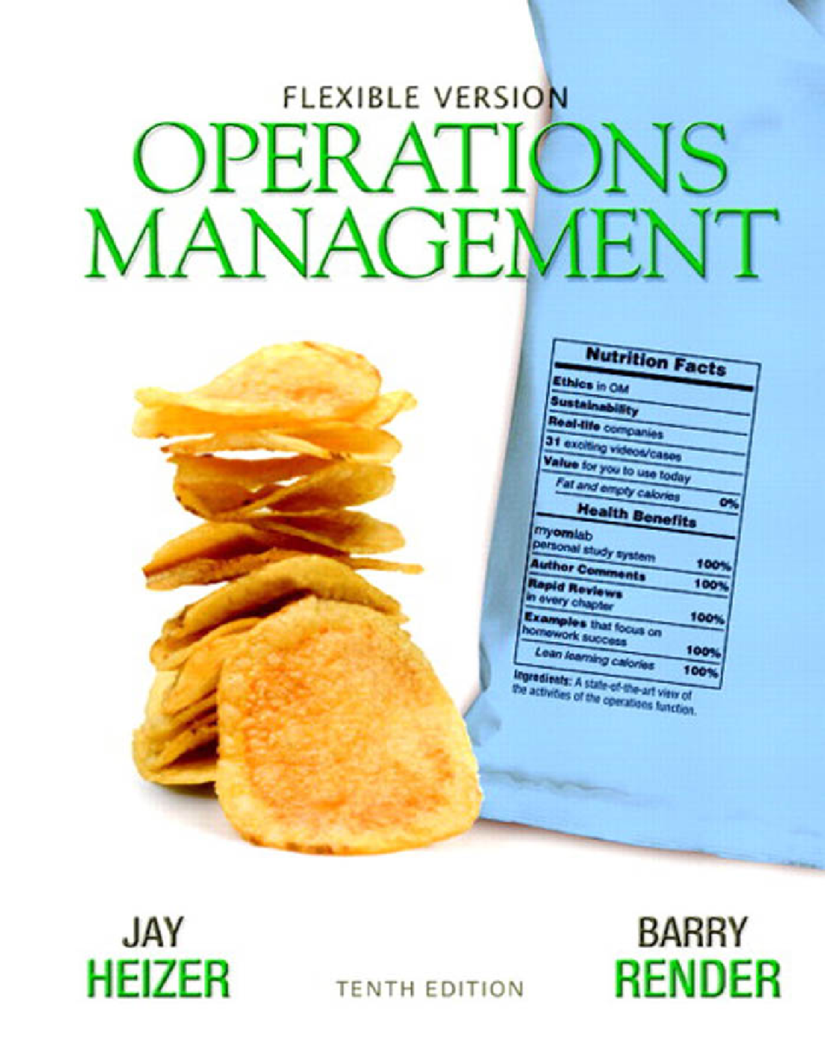 Heizer J , Render B  - Operations Management (Flexible edition