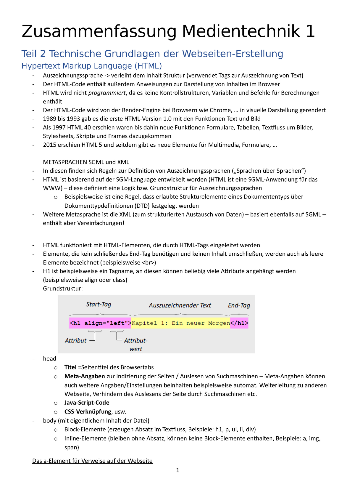 Zusammenfassung Teil 20 Technische Grundlagen der ...