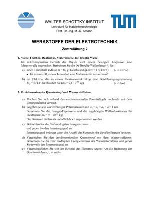 Werkstoffe der elektrotechnik tum charakterisierung schreiben wikipedia