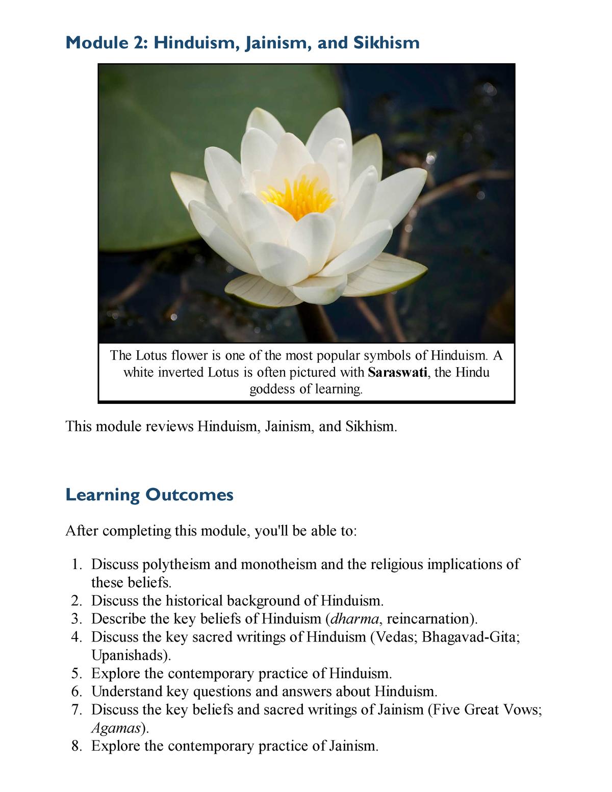 World Religions Module 2 Studocu