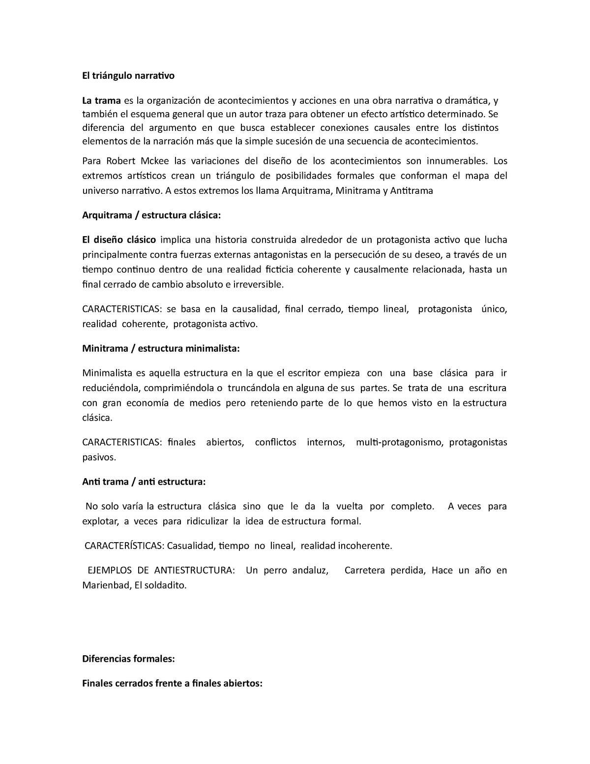 Guion Clase 1 El Triángulo Narrativo Unl Studocu