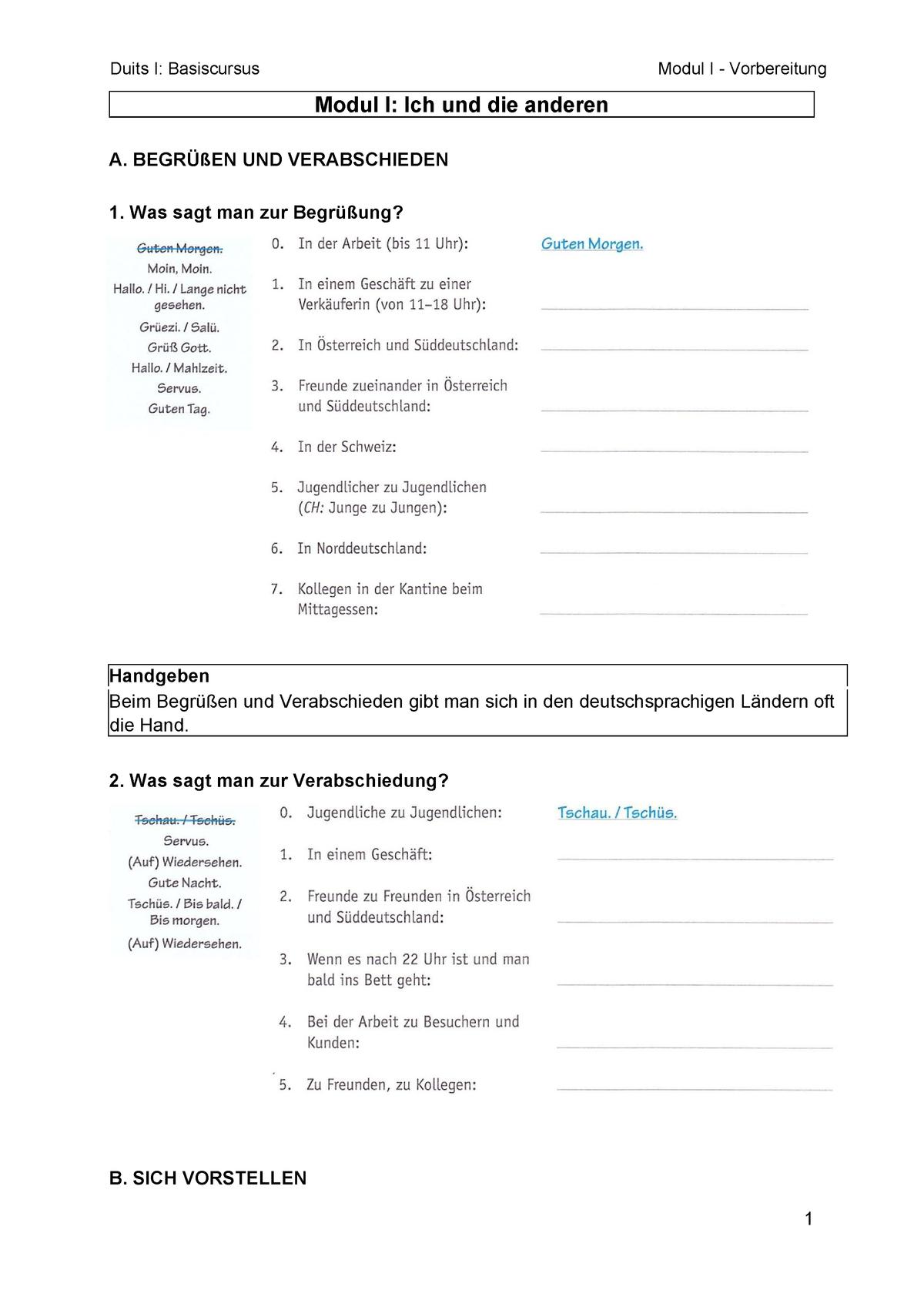 Modul I Vorbereitung übungen D0t84a Ku Leuven Studocu