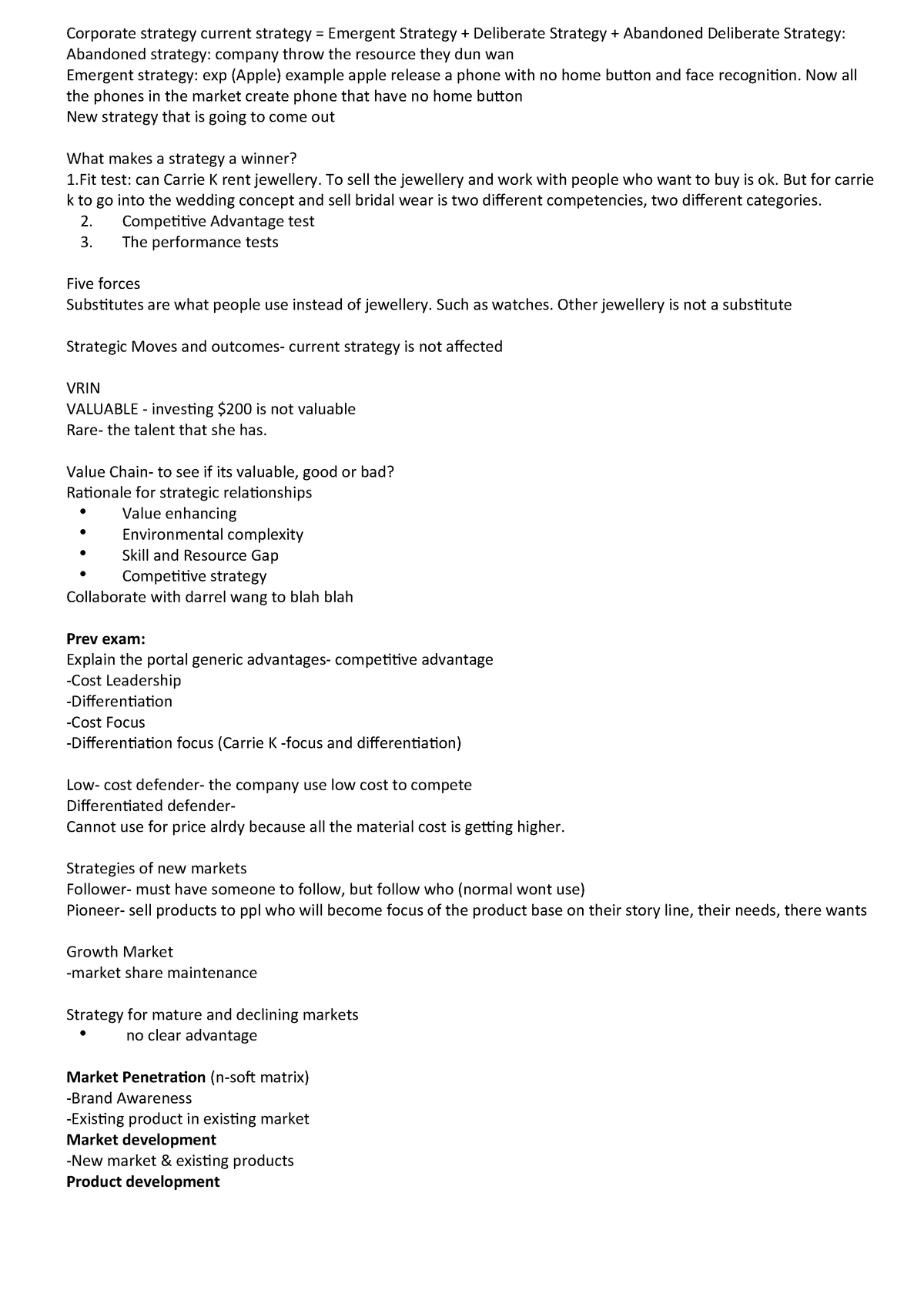 SM Review Notes - MKTG1260: Strategic Marketing - StuDocu