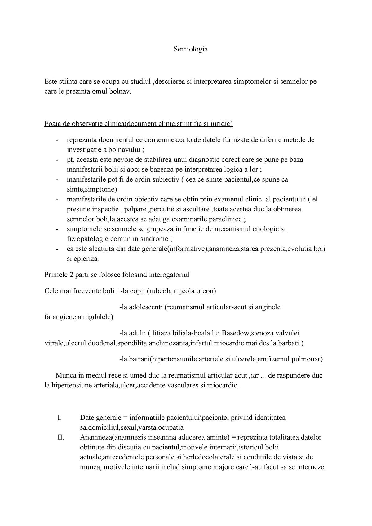 date generale privind bolile articulare