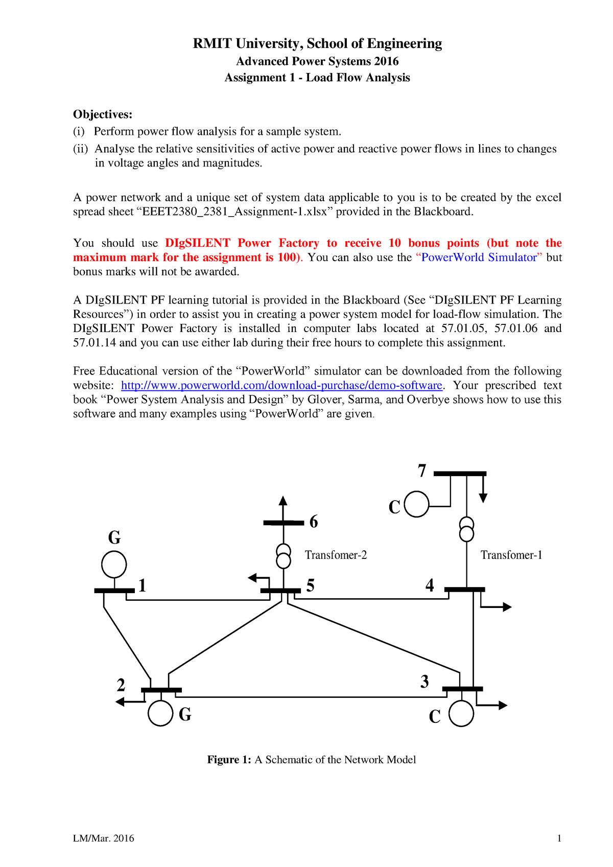 Advanced Power Systems Assignment 1 - EEET2380: Advanced Power