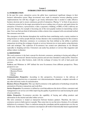 E-commerce-notes-pdf-lecture-notes-university-level - CS101