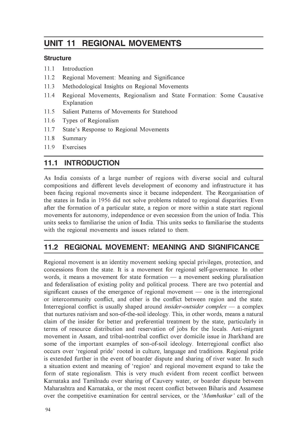 Regional Movements - Good Notes - Medische microbiologie