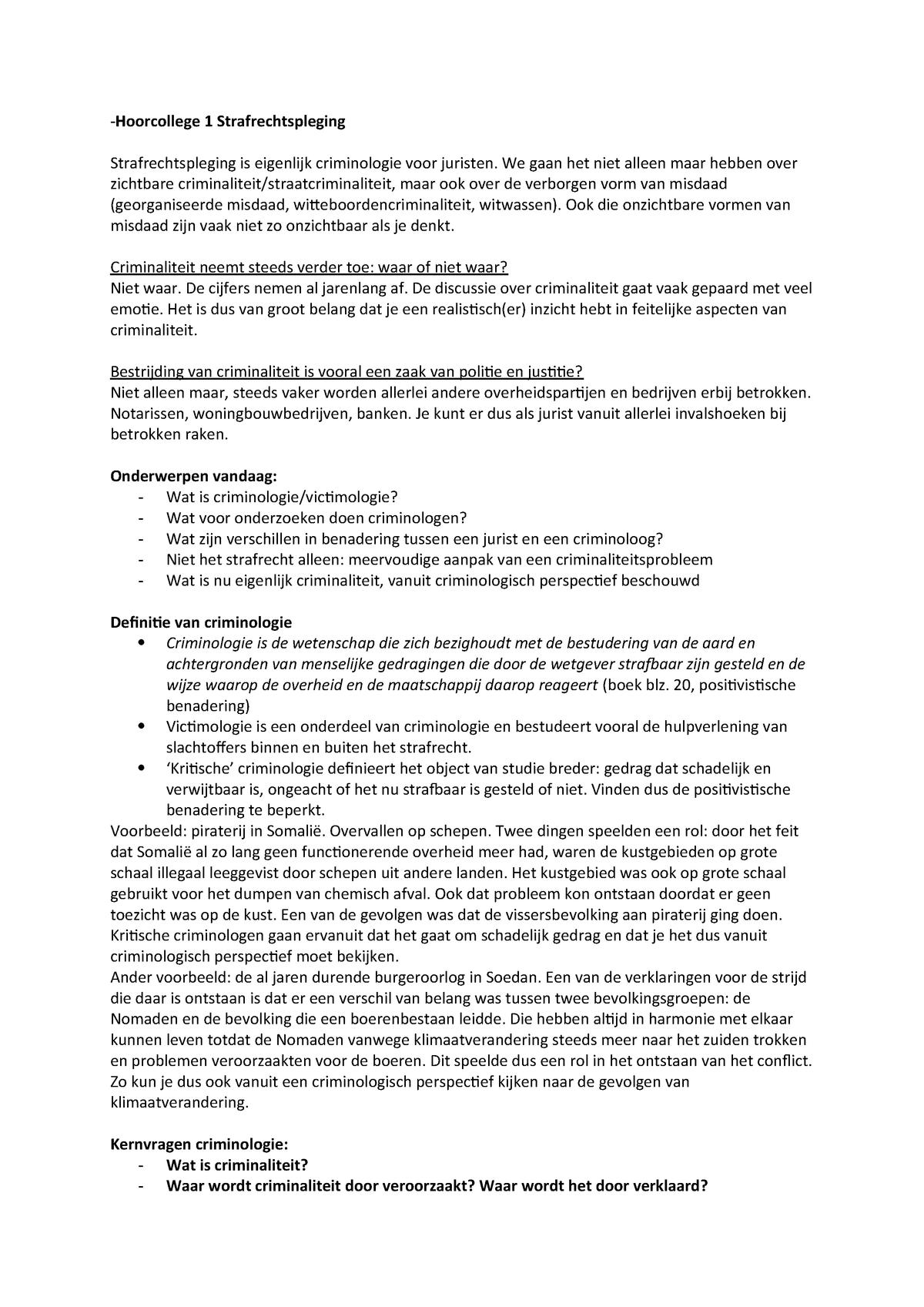 Hoorcolleges Strafrechtspleging - 670085: Strafrechtspleging
