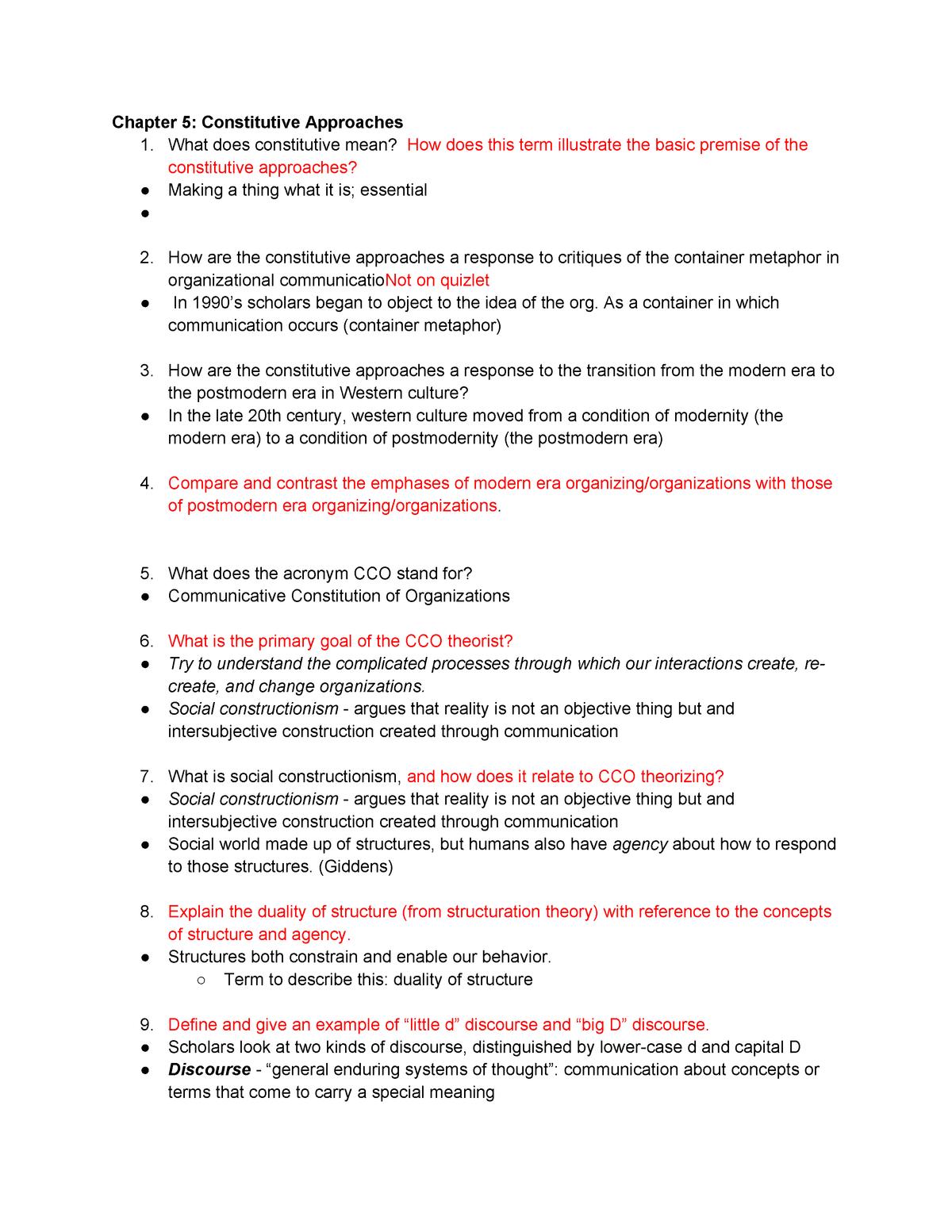 Exam 2017 - COM 264: Organizational Communication - StuDocu