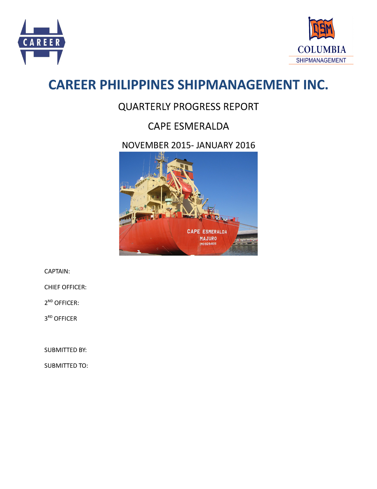 2nd Officer Tanker Vacancy