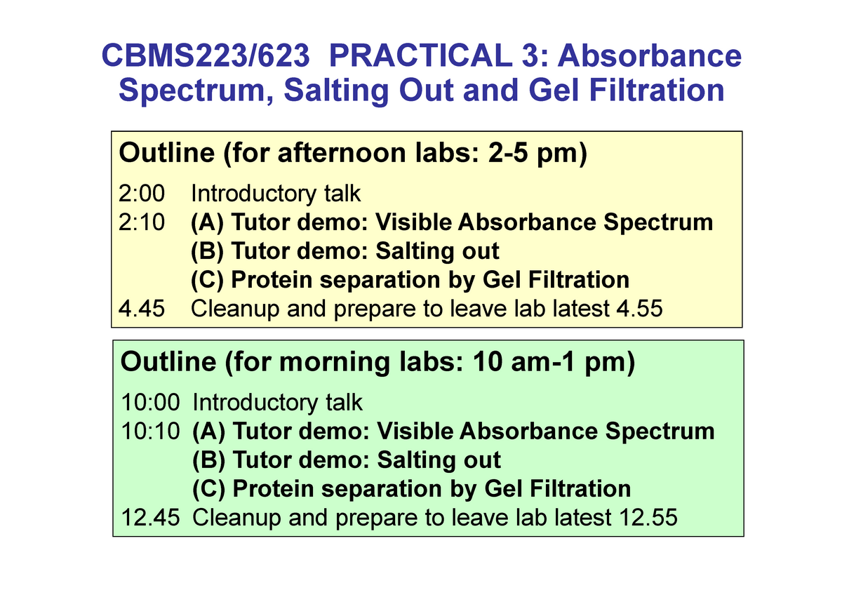 CBMS223 - Prac 3 - Absorbance Spectroscopy and Gel