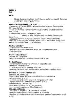 statute law vs common law uk