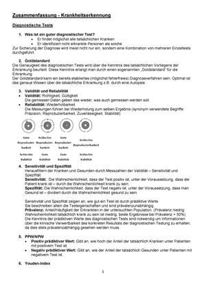 Gruka Zusammenfassung 1 Grundlagen Der Krankheitserkennung