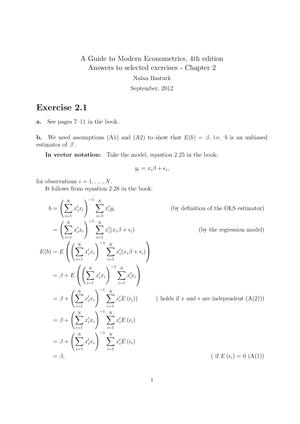 solution manual modern econometrics answers chapter 2 studocu rh studocu com marno verbeek a guide to modern econometrics solution manual Pcoket Guide