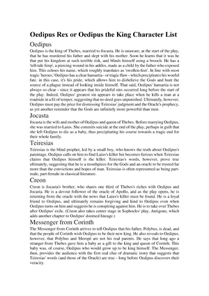 role of gods in oedipus rex