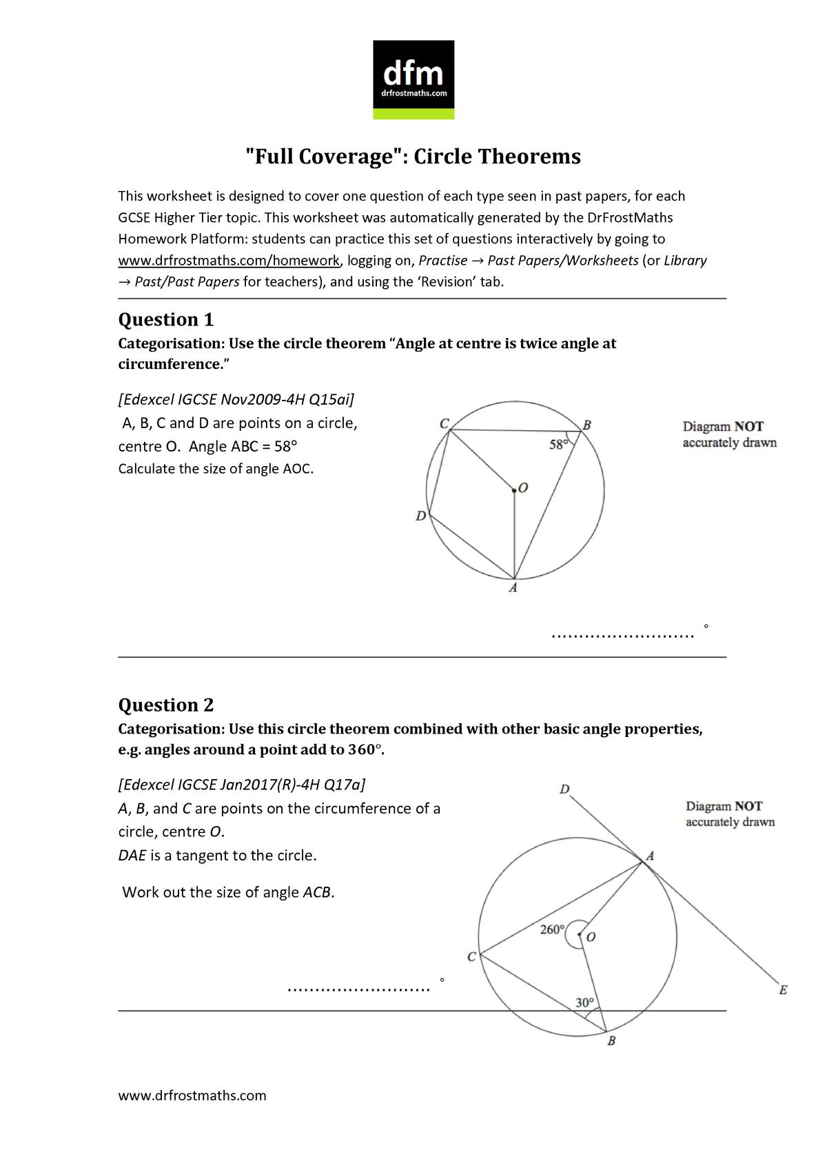 DFMFull Coverage-Circle Theorems - MBIO213 - Plymouth - StuDocu
