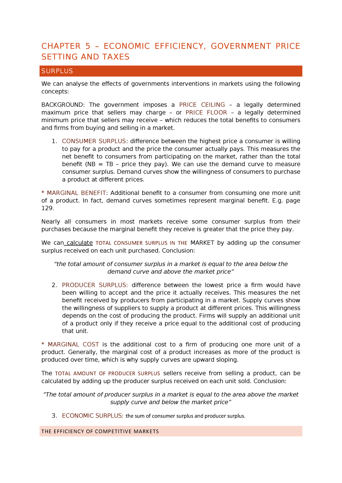 Chapter 5 - Summary Essentials of Economics - 6355 - StuDocu