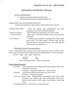 Information And Business Process Rangkuman Flowchart Information