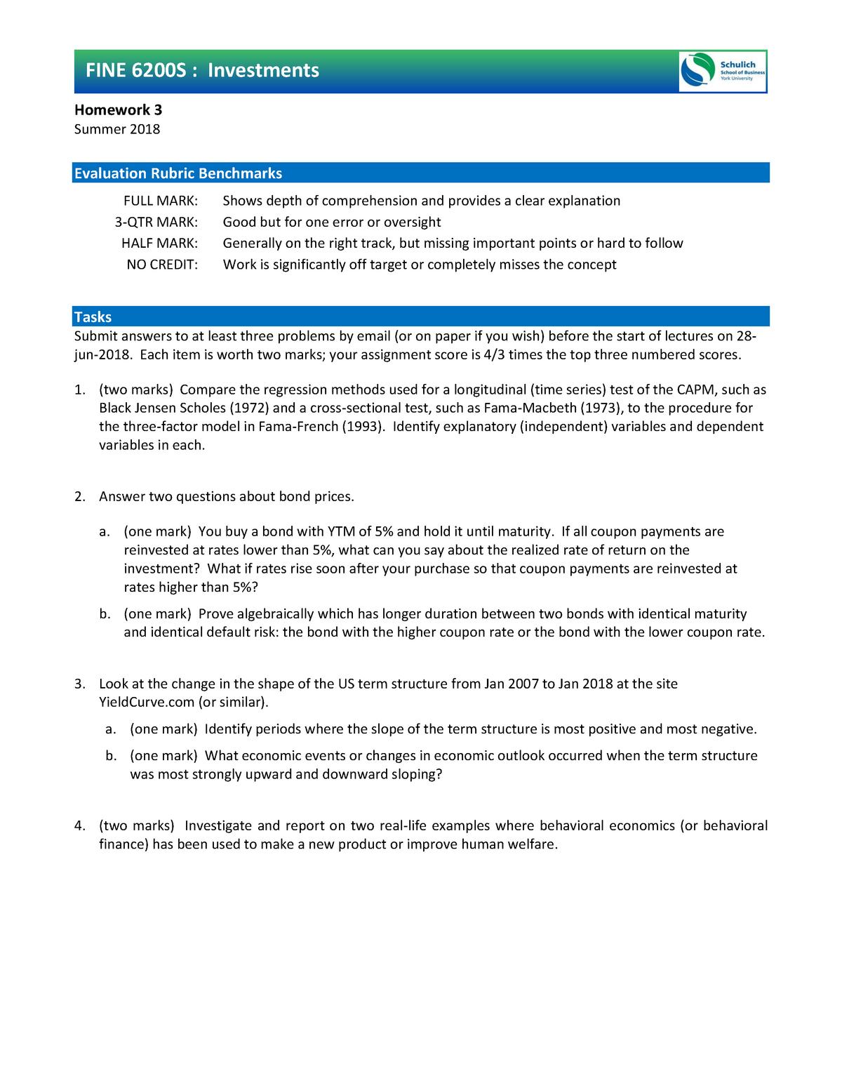Exam 2018 - Sb/Fine 6200: Investments - StuDocu