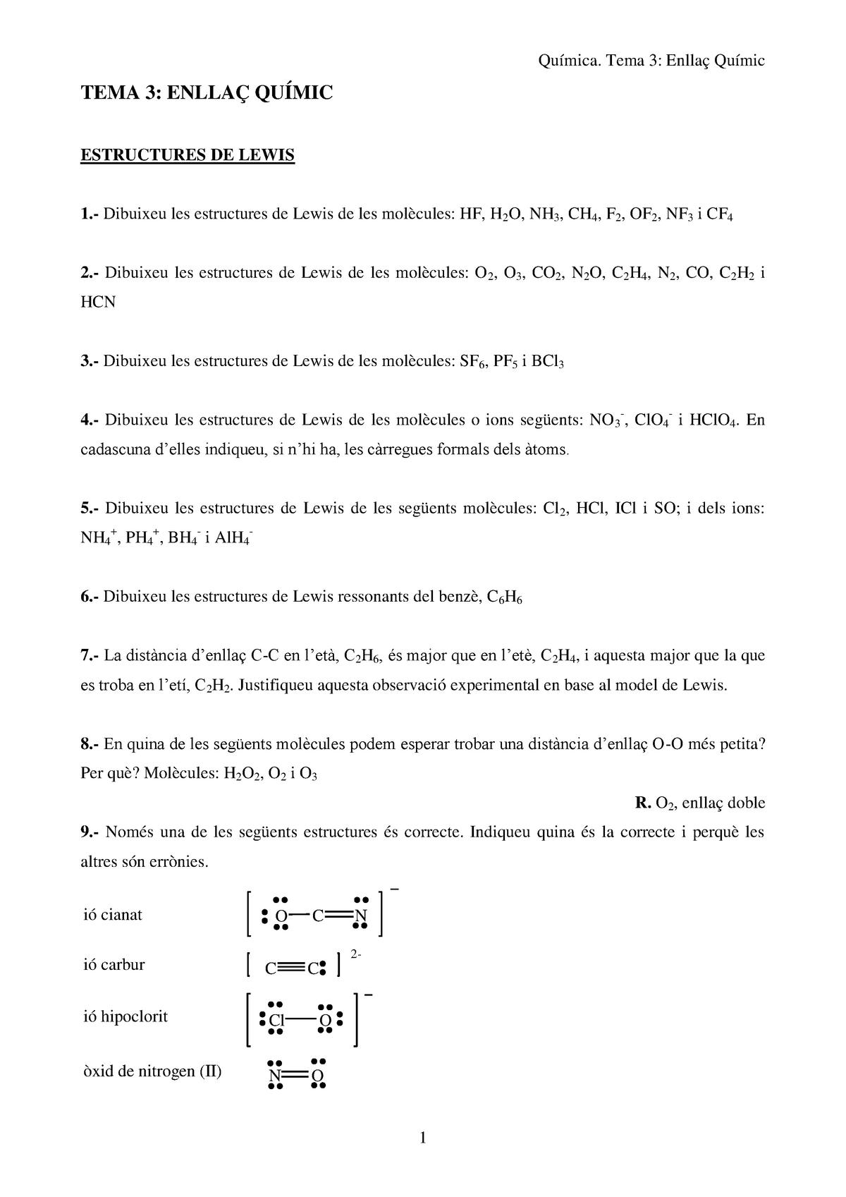 Problemes Tema 3 Tema 3 Física 1 Udl Fisica 1 Udl