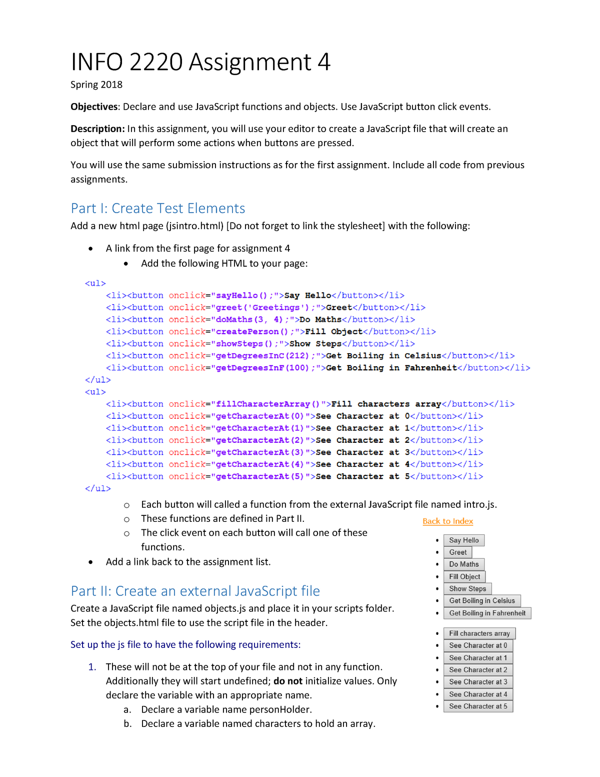 Assignment 4 - Lecture notes 4 - INFO 2220: Web Development