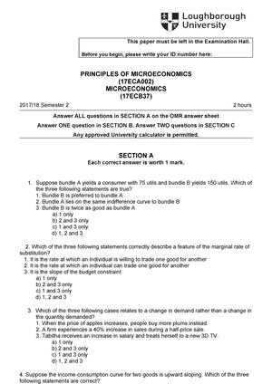 Exam 2018 - 17EC08META: Microeconomics - StuDocu