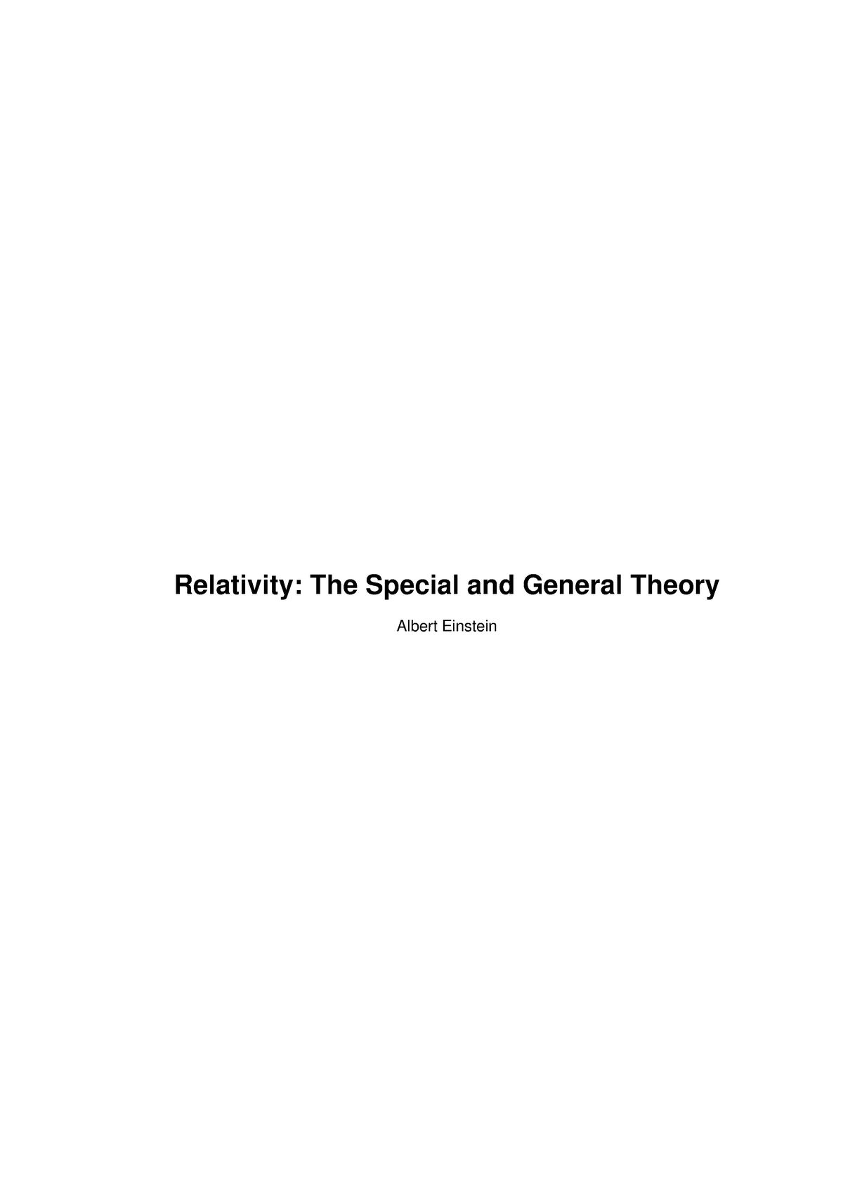 ebook - PDF - Science) Physics - Relativity - The Special