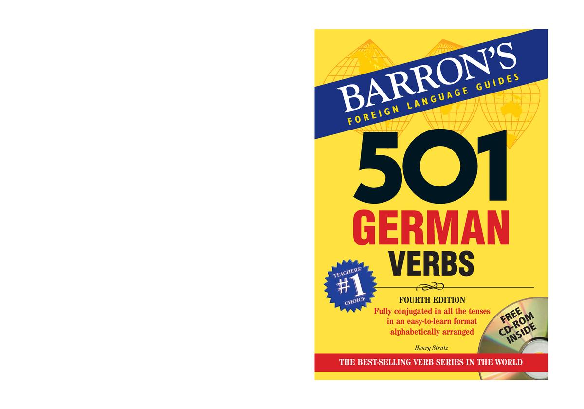 501 German Verbs 2 - Riassunti - Linguistica tedesca - StuDocu
