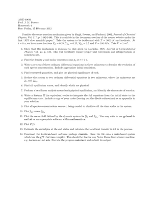 Hw 4 - questions - AME 60636: Fundamentals of Combustion