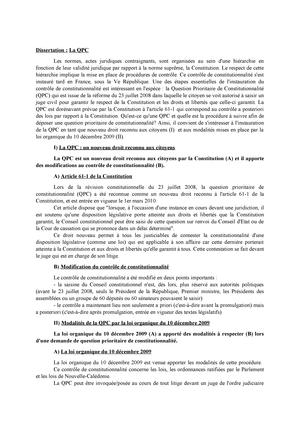 la qpc dissertation droit constitutionnel