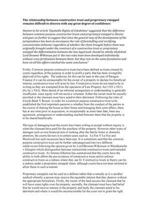 Properiatry Estoppel And Constructive Trust Essay La3003 Property