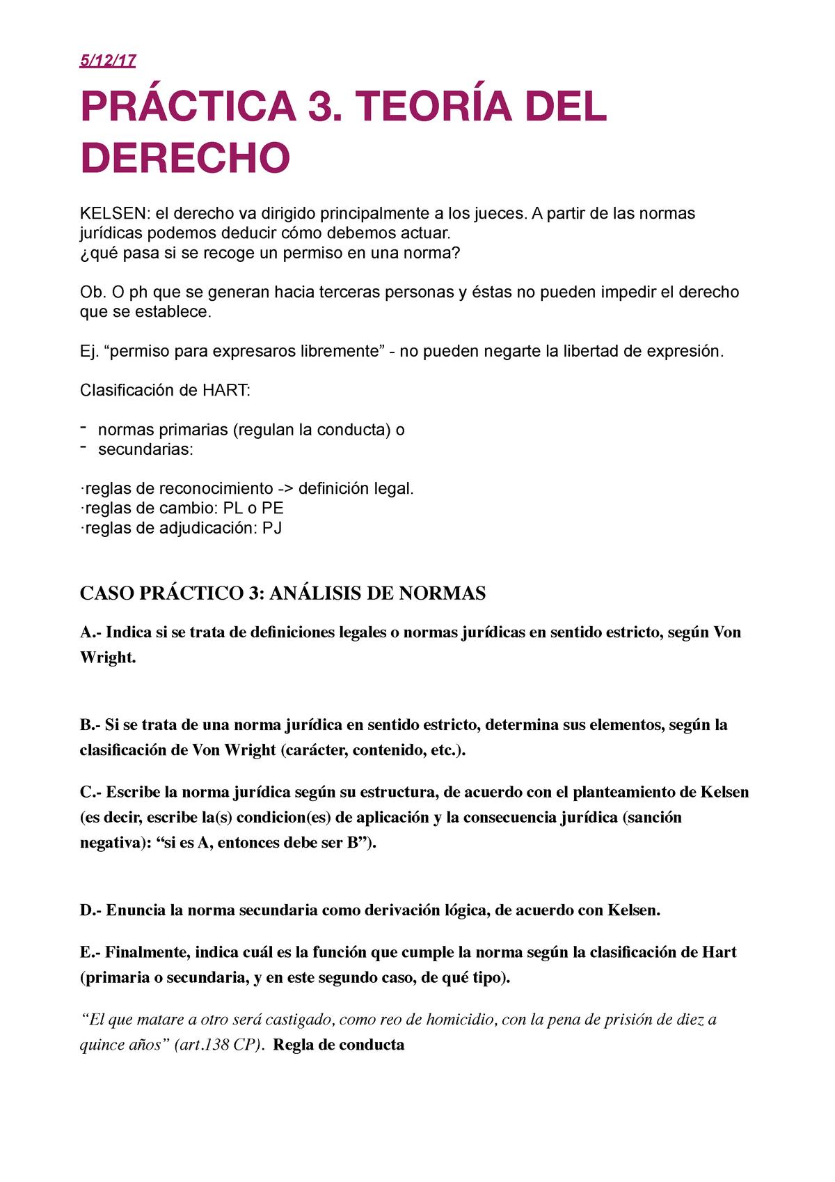 Practica 3 De Teoría Del Derecho Teoria Del Dret 15904007
