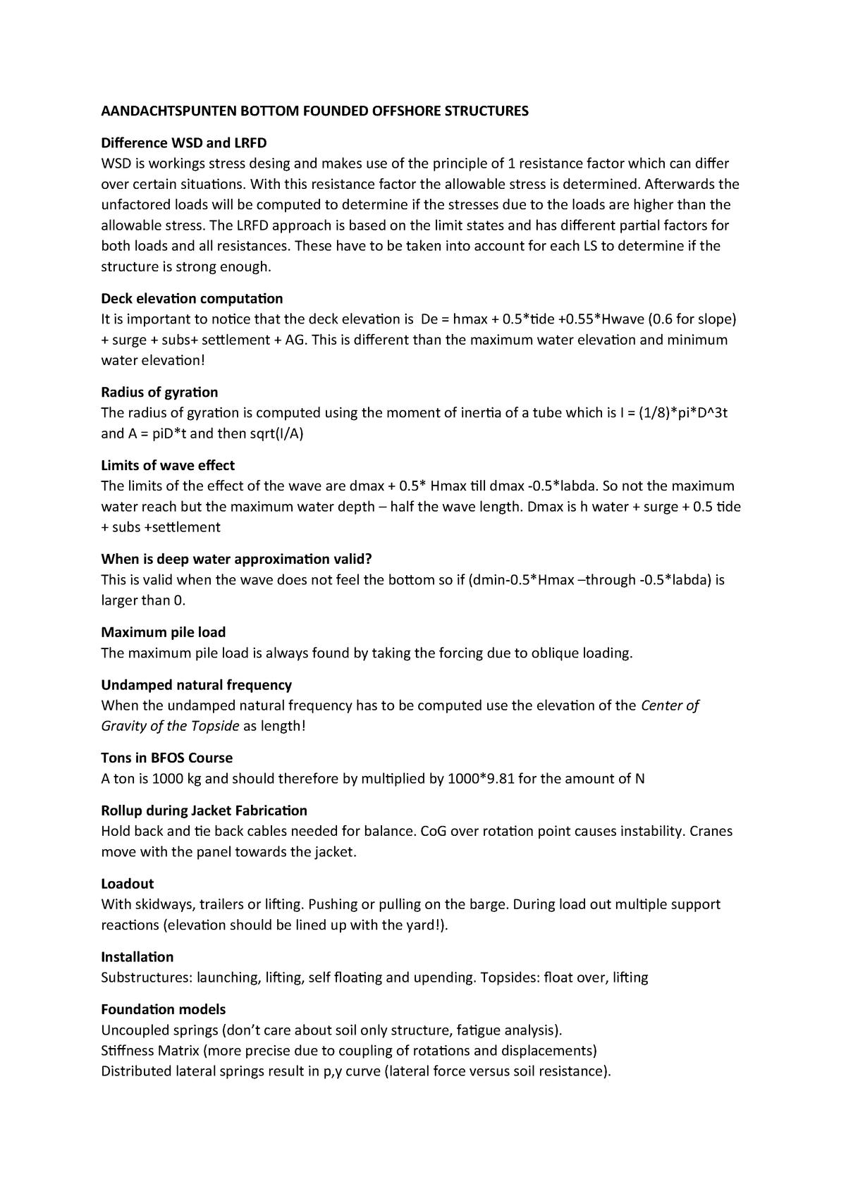 Aandachtspunten summary - aandachtspunten om goed te onthouden voor je