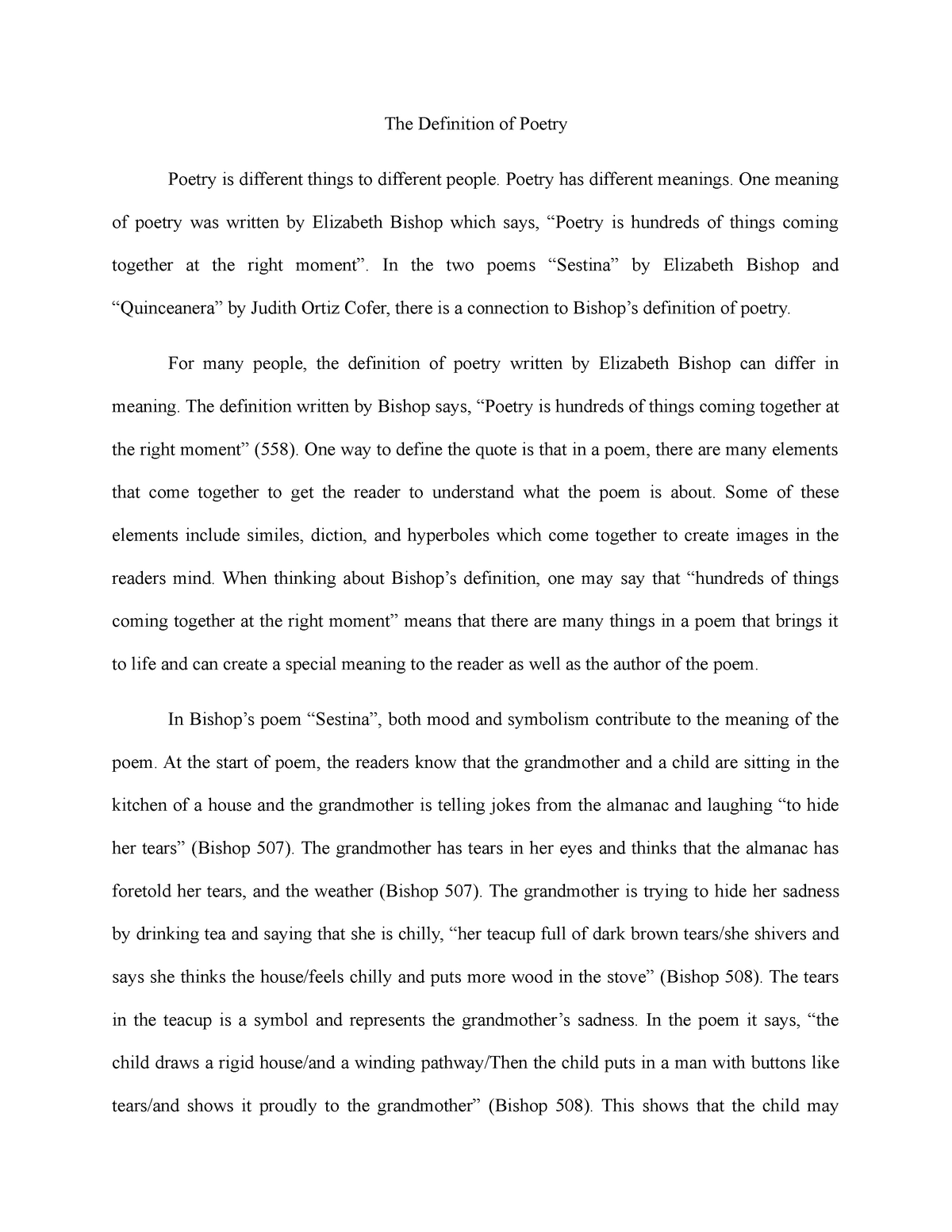 Essay #2-English 201 - Grade: A - ENG 201: Introduction To