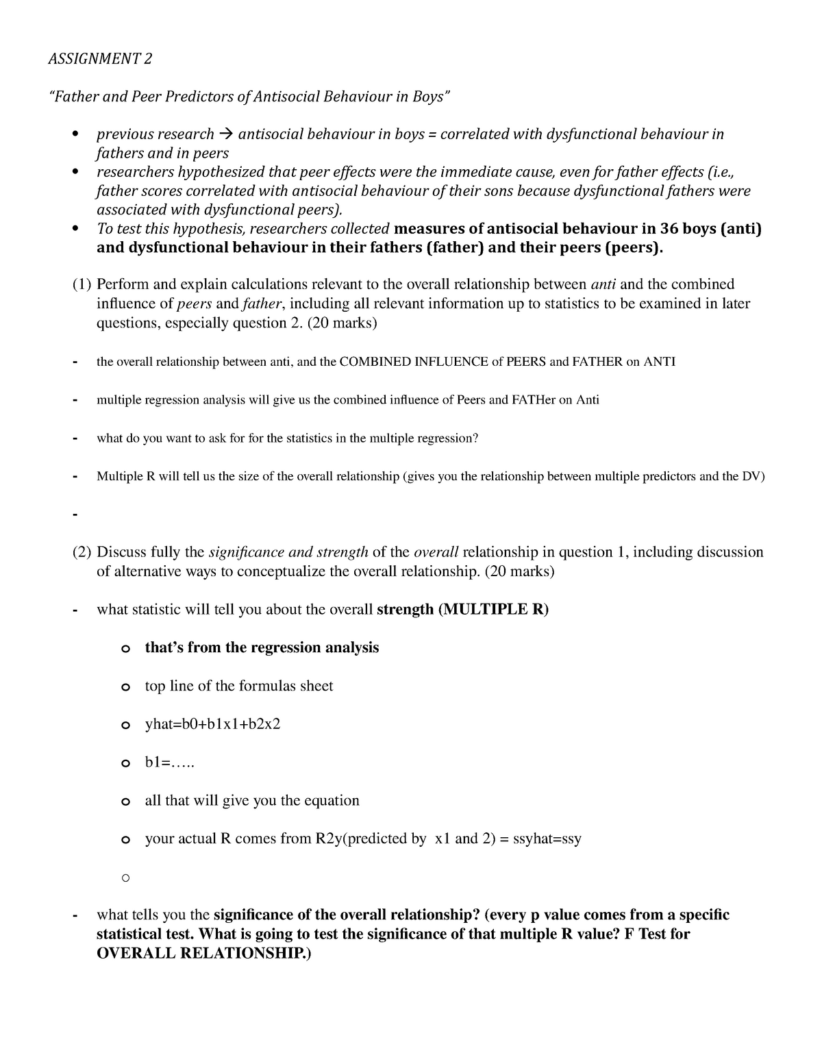 Assignment 2 outline stats - Math 315: Methods in Applied