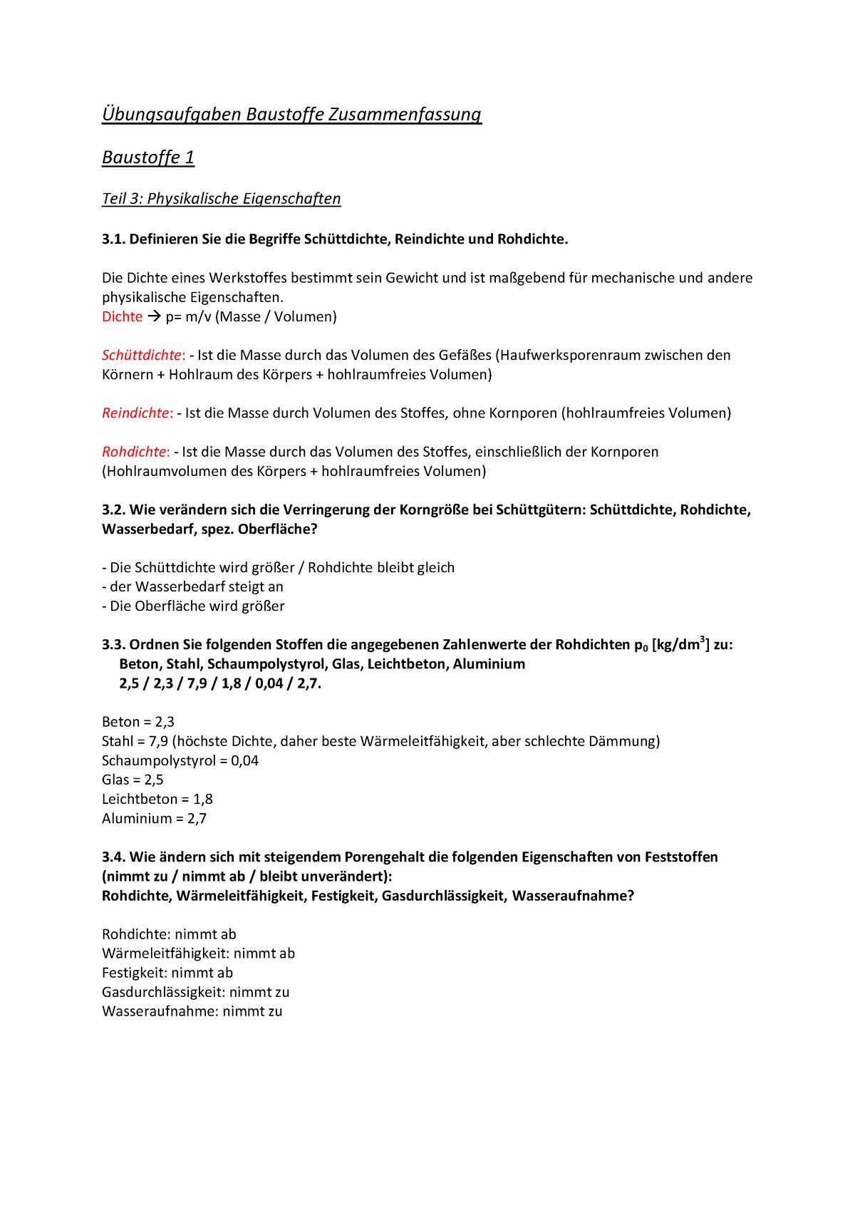Top Übungsaufgaben Baustoffe Lösungen - - TU Dresden - StuDocu SK76