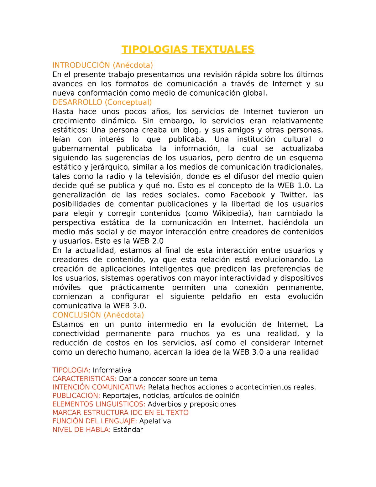 Tipologias Textuales Ciencias Sociales Sociales Uanl