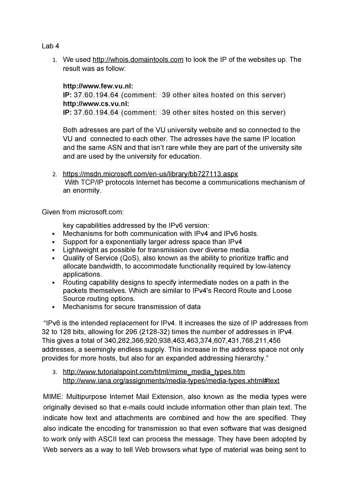Antwoorden Lab 4 - Web Technology X_400488 - VU - StuDocu