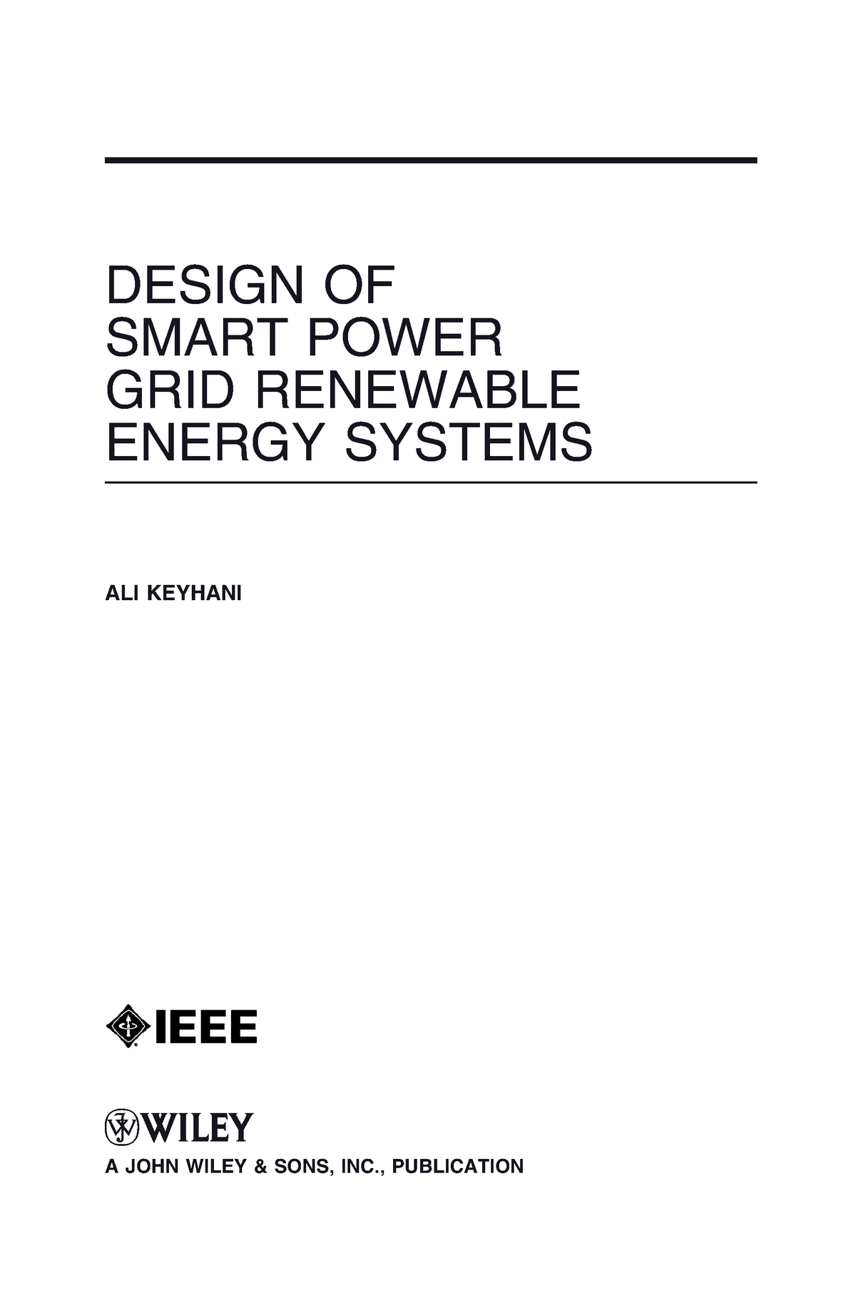 Design Of Smart Power Grid And Renewable Energy Systems Studocu