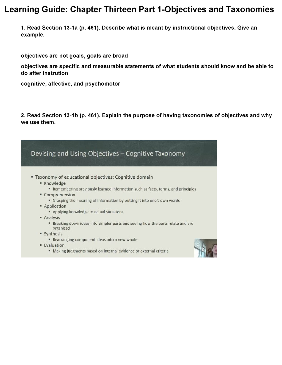 Copy of Chapter 13 Learning Guide Part I - C973 - StuDocu