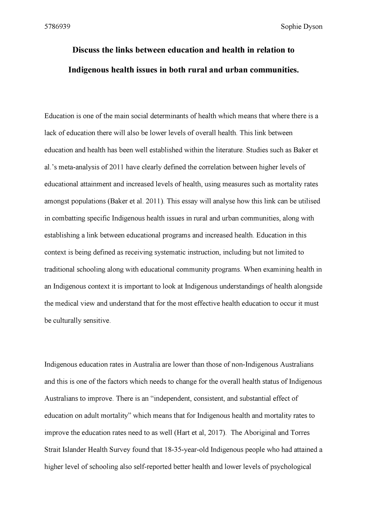 major essay on education and health   nmih comparative  major essay on education and health   nmih comparative indigenous health  issues   studocu