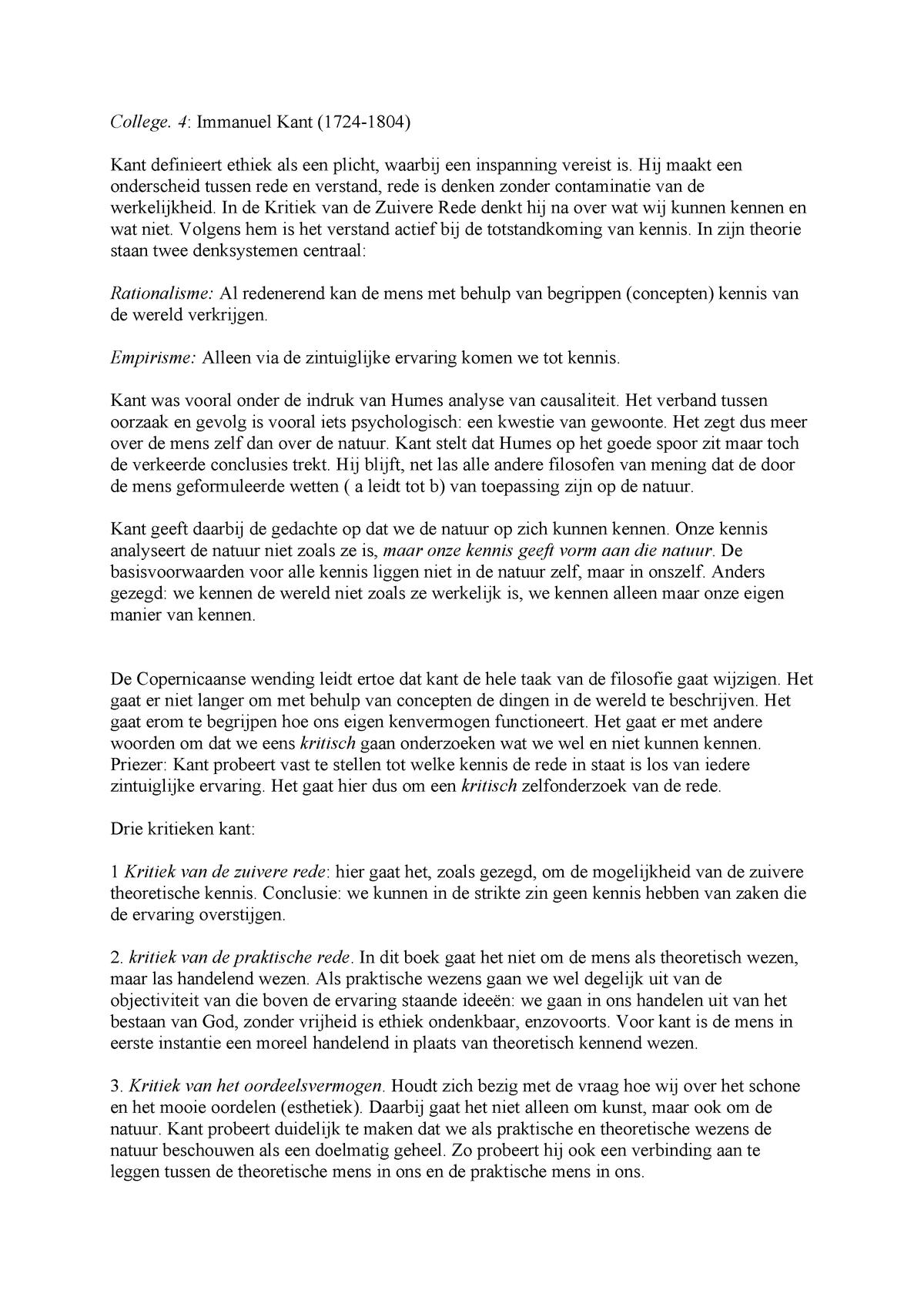 Kant College 4 Immanuel Kant Man Bin118po 2018 4 V