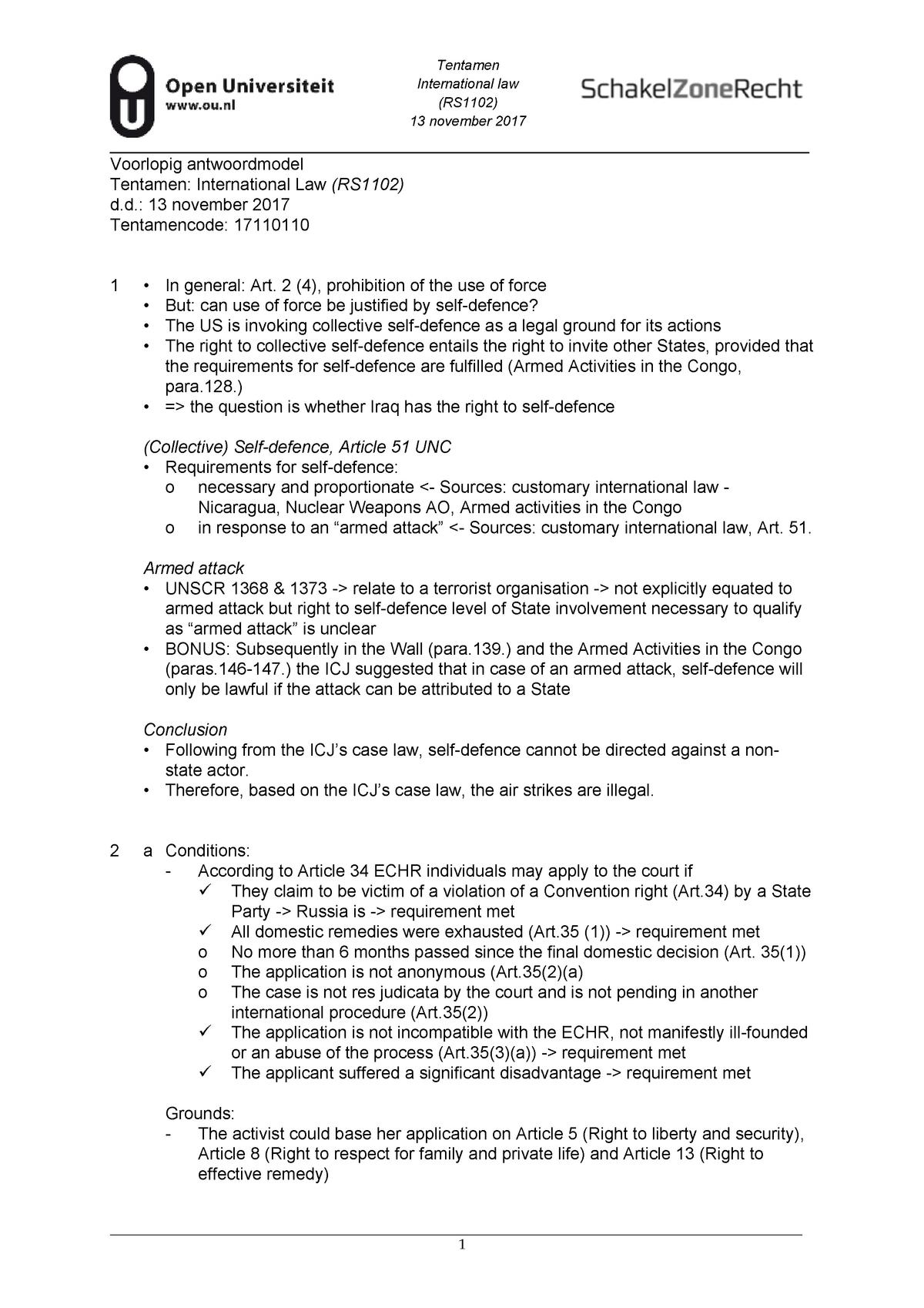 Tentamen 13 November 2017, antwoorden - RB1802 - StudeerSnel