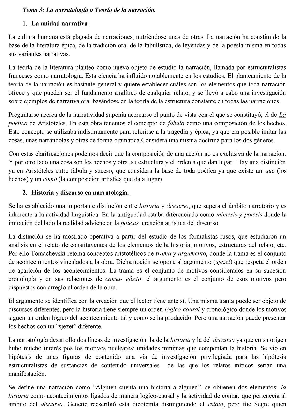 3 La Narratologia Apuntes 3 Crítica Literaria 1277 Um