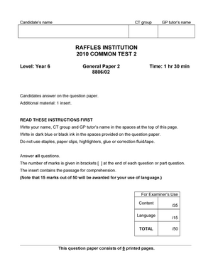 Exam 7 May 2010, answers - General Paper GP 2019 - StuDocu