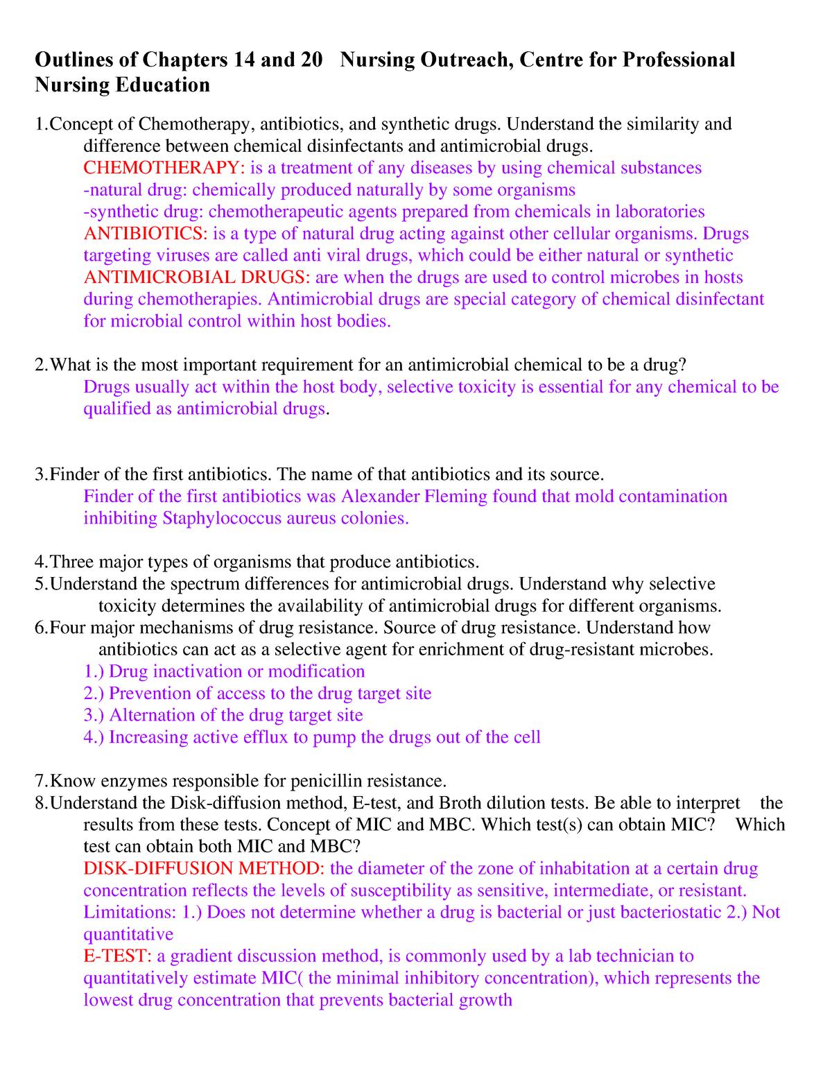 Summary - chapters 14-20 outine - Hlsc 124 - StuDocu